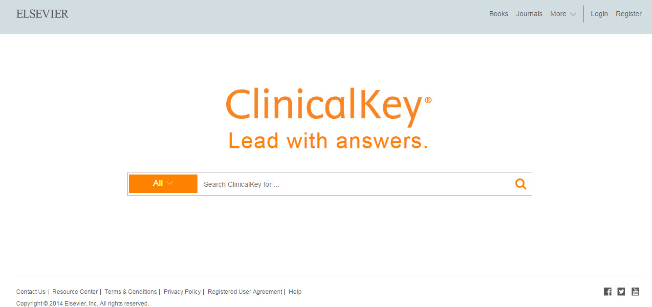 ClinicalKey landing page