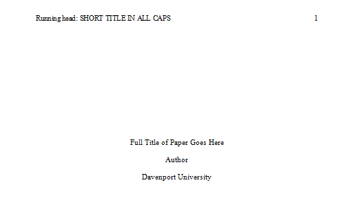 APA Formatted Paper Template
