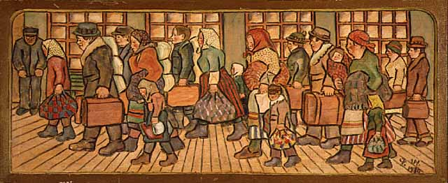 Immigrants (painting), ca. 1930.