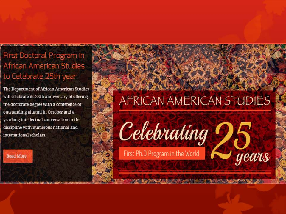 African American Studies 25 Years PHD