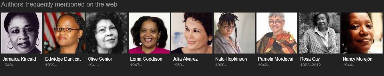 Caribbean women writers on the web