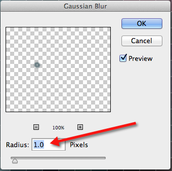 Gaussian Blur Menu