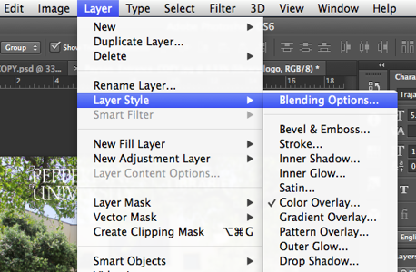 Open Blending Options