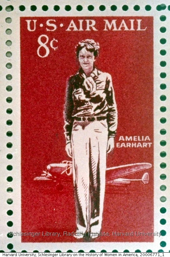 Earhart 8 cent air mail stamp issued in 1963.