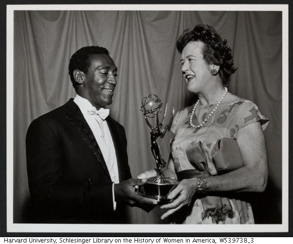 Julia Child and Bill Cosby at Emmy awards, 1966