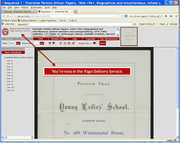 Screenshot of Page Delivery Service (PDS)