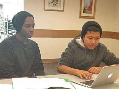 Teens in Photography and Photo Editing Class