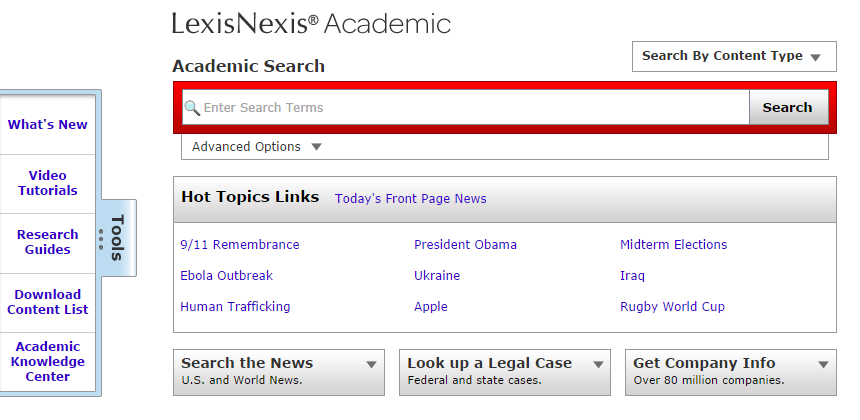 LexisNexis database