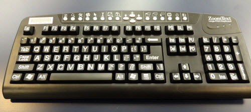 Large Print USB Keyboard available at MEC Library