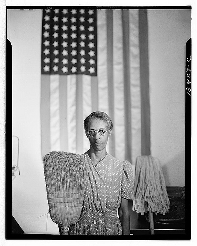 Cleaning woman, D.C., 1942 (Library of Congress)