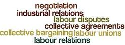 Labour relations word cloud