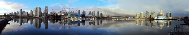 Panorama photo of Vancouver