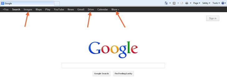 Tools on Google Homepage