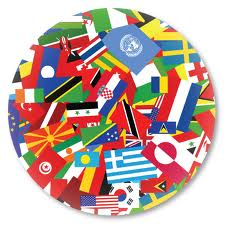 circle made up of international flags