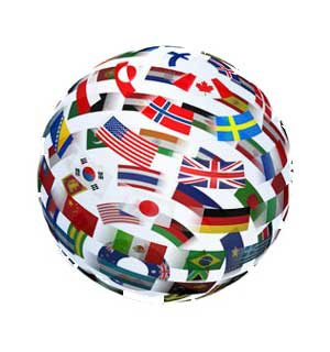 globe made of country flags