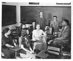 Regester and students in Johnston's Negro in U.S. History class, 1949
