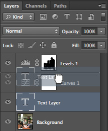 Moving layers within layers palette