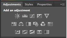 Screenshot of Adjustments palette