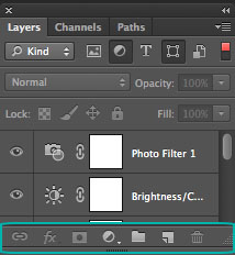 Layers Palette - Layers buttons