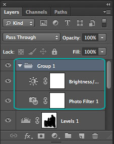 Layers inside a Group folder
