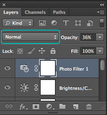 Layers Palette - Blending Mode Dropdown