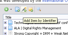 Close up of identifier icon