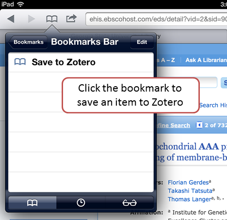 Zetero for iPads Cover Image