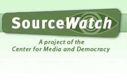 SourceWatch logo, reading A Project of the Center for Media and Democracy.