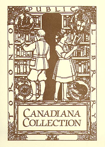 """""""Bookplate for the Canadiana collection at the Toronto Public Library"""". Courtesy Wikimedia Commons."""