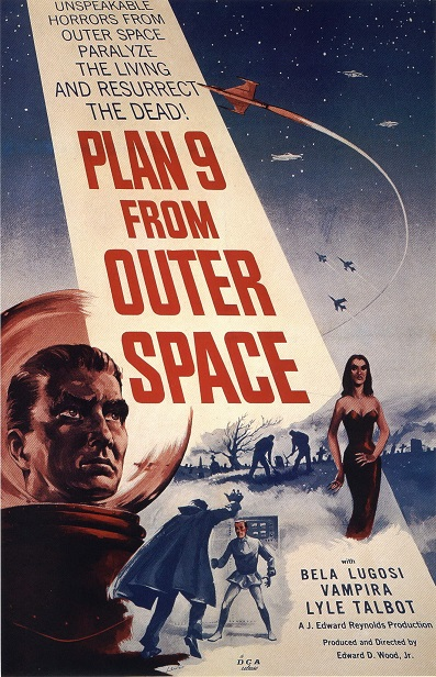 """Plan 9 from Outer Space"" film poster (c. 1959). Courtesy of Wikimedia Commons."