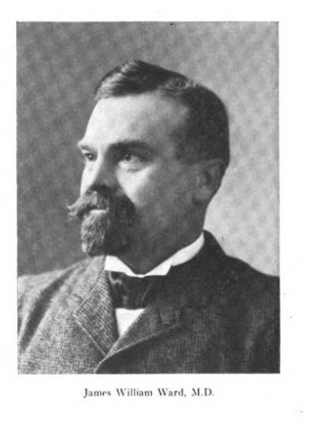 Photo of James Ward from History of homoeopathy and its institutions in America