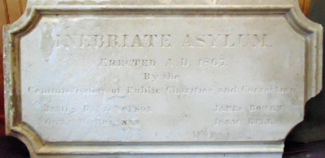 inebriate asylum plaque