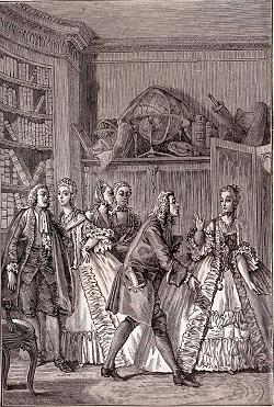 Les femmes savantes by Jean-Michel Moreau