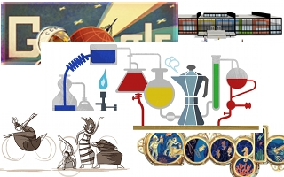 collage of Google Doodles