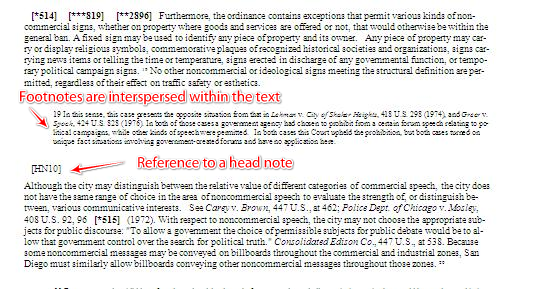 References in text