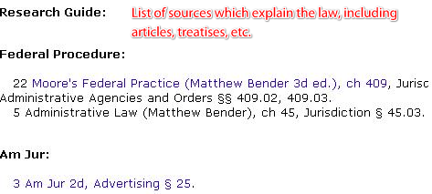 List of research material on this law