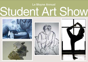 Postcard for Le Moyne Annual Student Art Show