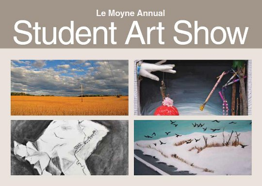 Postcard for 2013 Student Art Show