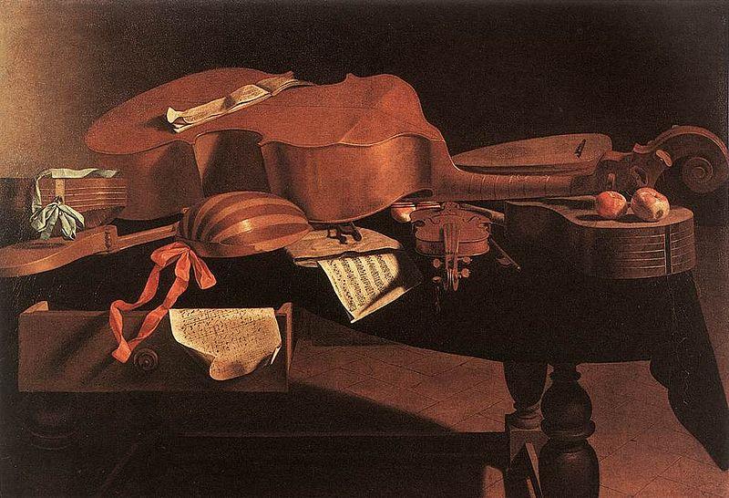 evaristo baschenis musical instruments (1650)