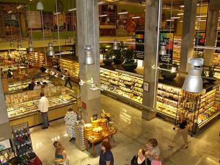Inside of a supermarket