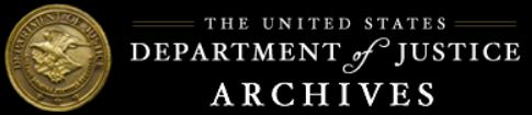 U S Department of Justice Archives