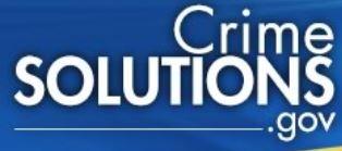 Crime Solutions dot gov logo