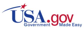 U S A dot gov logo