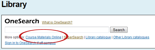 The primary link to CMO is located beneath the OneSearch search box.