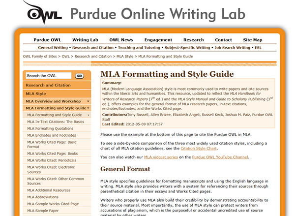link image to owl purdue web page