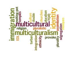 Illustration of Multiculturalism Word Cloud