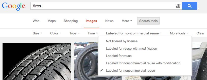 Google Image Usage Rights