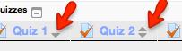 grader report column sort button