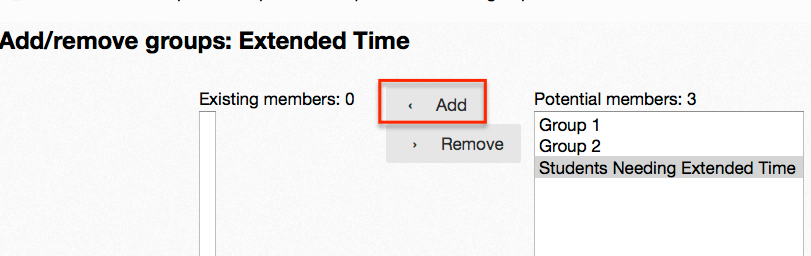 add group to grouping