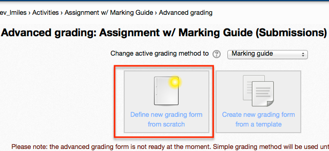 advanced grading screenshot